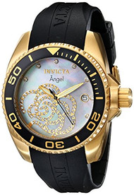Invicta Women's 0489 Angel Collection Cubic Zirconia Accented Polyurethane Wa...