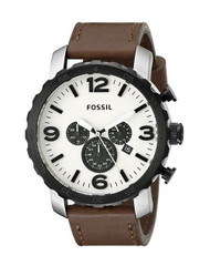 Fossil Men's JR1390 Nate Analog Display Analog Quartz Brown Watch [Watch] Fossil