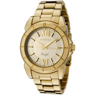 Invicta Women's 0459 Angel Collection Rhodium-Plated Gold-Tone Watch [Watch] ...