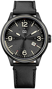 Tommy Hilfiger Men's 1791103 Casual Sport Analog Display Quartz Black Watch
