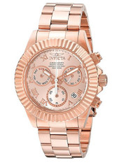 Invicta Pro Diver Chronograph Rose Dial Rose Gold-tone Mens Watch 16345 [Watc...