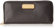Marc by Marc Jacobs New Q Slim Zip Around Wallet, Black, One Size