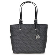 Michael Kors Jet Set Travel Small Logo Tote - Black  30S7STTT3V-001