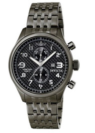 Invicta Men's 0368 II Collection Gunmetal Ion-Plated Stainless Steel Watch In...