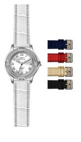 Invicta Women's 14933 Angel Quartz 3 Hand Silver Dial Watch
