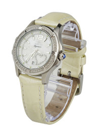 Invicta Signature II Mother of Pearl Dial White Leather Ladies Watch 7475