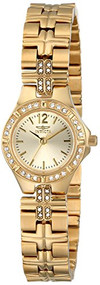Invicta Women's 0128 Wildflower Collection Crystal Accented 18k Gold-Plated W...
