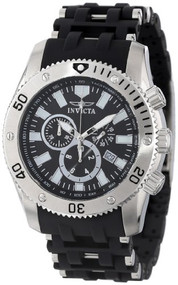 Invicta Men's 0138 Sea Spider Collection Stainless Steel and Black Polyuret...