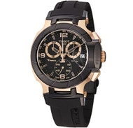 Tissot Men's T048.417.27.057.06 T-Sport Rose-Gold PVD Black Rubber Strap Watc...