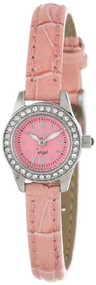 Invicta Women's 13659 Angel Pink Dial Crystal Accented Pink Leather Watch Inv...