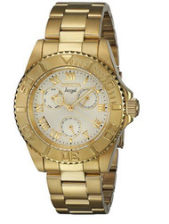Invicta Women's Angel Gold-Tone Steel Bracelet & Case Quartz Analog Watch 17524