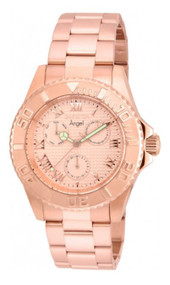Invicta Women's Angel Rose Gold-Tone Steel Bracelet & Case Quartz Analog Watch 17525