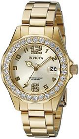 Invicta Women's 21397 Pro Diver Analog Display Quartz Gold Watch