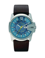 Diesel Men's Quartz Watch Master Chief DZ1399 with Leather Strap