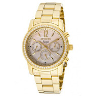 Stainless Steel GOLD Case and Bracelet Mother of Pearl Dial Day and Date Diam...