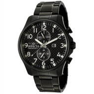 Invicta Men's 0383 II Collection Black Ion-Plated Stainless Steel Watch [Watc...