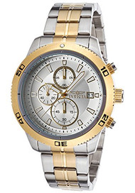 Invicta Men's Specialty Chronograph Two-Tone Steel Silver-Tone Dial [Watch]