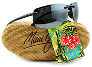 Maui Jim MJ-412-02 Banyans Sunglasses Gloss Black w/ Neutral Gray 412-02 70mm Authentic + Maui Jim Care-Kit