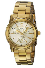 Invicta Women's 'Angel' Quartz Stainless Steel Casual Watch, Color:Gold-Toned (Model: 21691)