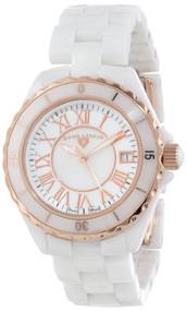 Swiss Legend Women's 20050-WWRR Karamica Collection White/Rose Ceramic Watch ...
