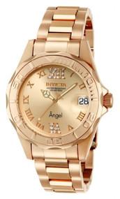 Invicta Women's 14398 Angel Analog Swiss-Quartz Rose Gold Watch [Watch] Invicta