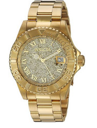 Invicta Women's 'Angel' Swiss Quartz Stainless Steel Casual Watch, Color:Gold-Toned (Model: 22707)
