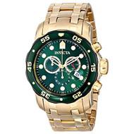 Invicta Men's 80072 Pro Diver Analog Display Swiss Quartz Gold Watch