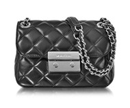 MICHAEL KORS WOMEN'S 30F5SSLL1L001 BLACK LEATHER SHOULDER BAG 30F6SSLL5F-001
