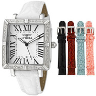 Invicta Women's 11729 Wildflower Diamond Accented Interchangeable Leather Str...