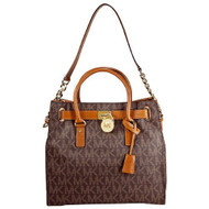 Michael Kors Large Hamilton Women's Handbag Tote Shoulder Bag Brown 30T2GHMT3B-200