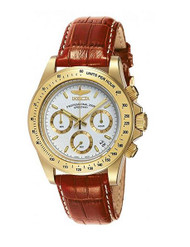 Invicta Men's 7032 Signature Collection Speedway Gold-Tone Chronograph Watch ...