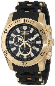 Invicta Men's 0140 Sea Spider Collection 18k Gold Ion-Plated Stainless Stee...