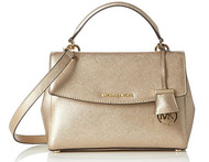 Michael Kors Womens Ava Small Top Handle Satchel (Pale Gold) 30F5MAVM2M-740