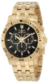 Invicta Men's 6793 Pro Diver Collection Chronograph 18k Gold-Plated Stainless...