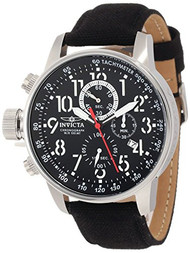 Invicta Men's 1512 I Force Stainless Steel Watch with Cloth and Leather Str...