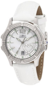 Invicta Women's 1029 Mother-Of-Pearl Dial with Interchangeable Leather Straps...