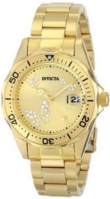 Invicta Women's 12505 Pro Diver Analog Display Japanese Quartz Gold Watch Inv...