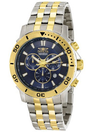 Invicta Men's 6792 Pro Diver Collection Chronograph 18k Gold-Plated and Stain...