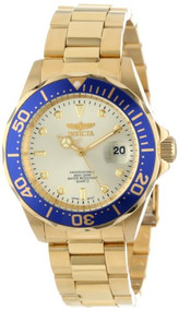 Invicta Men's 14124 Pro Diver Gold Dial 18k Gold Ion-Plated Stainless Steel W...