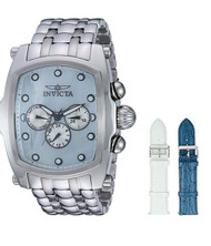 Invicta Men's 'Lupah' Quartz Stainless Steel Casual Watch, Color:Silver-Toned (Model: 23431) …
