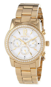 Invicta Women's 11771 Angel White Mother-Of-Pearl Dial Cubic Zirconia Accente...