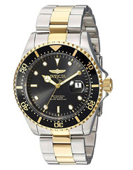 Invicta Men's 'Pro Diver' Quartz Stainless Steel Diving Watch, Color:Two Tone (Model: 23229)