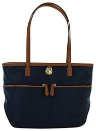 Michael Kors Kampton Medium Pocket Nylon Tote Handbag Blue
