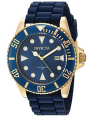 Invicta Men's 'Pro Diver' Quartz Stainless Steel and Silicone Casual Watch, Color:Blue (Model: 90304)