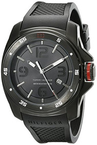 Tommy Hilfiger Men's 1790708 Analog Display Japan Movement Black Watch [Watch...