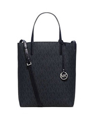 MICHAEL Michael Kors Hayley Large Convertible Tote (Signature Navy) 30H5SH3T1V-905