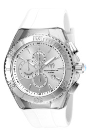 TechnoMarine Men's TM-115215 Cruise Star Quartz 3 Hand Silver Dial Watch