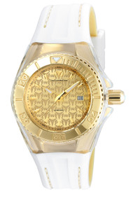 TechnoMarine Women's TM-115156 Cruise Monogram Quartz 3 Hand Gold Dial Watch
