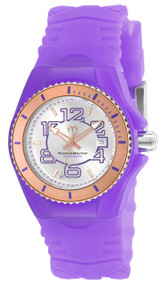 TechnoMarine Women's Cruise Jellyfish Swiss Quartz Stainless Steel and Silicone Casual Watch, Purple TM-115138
