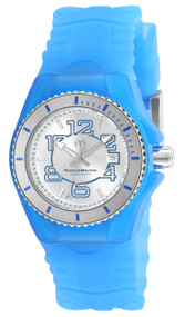 TechnoMarine Women's Cruise Jellyfish Swiss Quartz Stainless Steel and Silicone Casual Watch, Blue TM-115125
